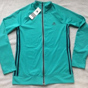Adidas teal and navy jacket size small